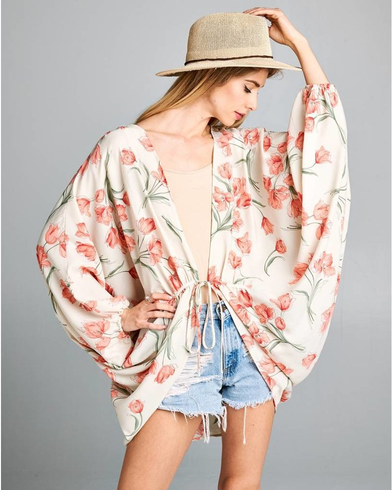Flutter Floral Kimono