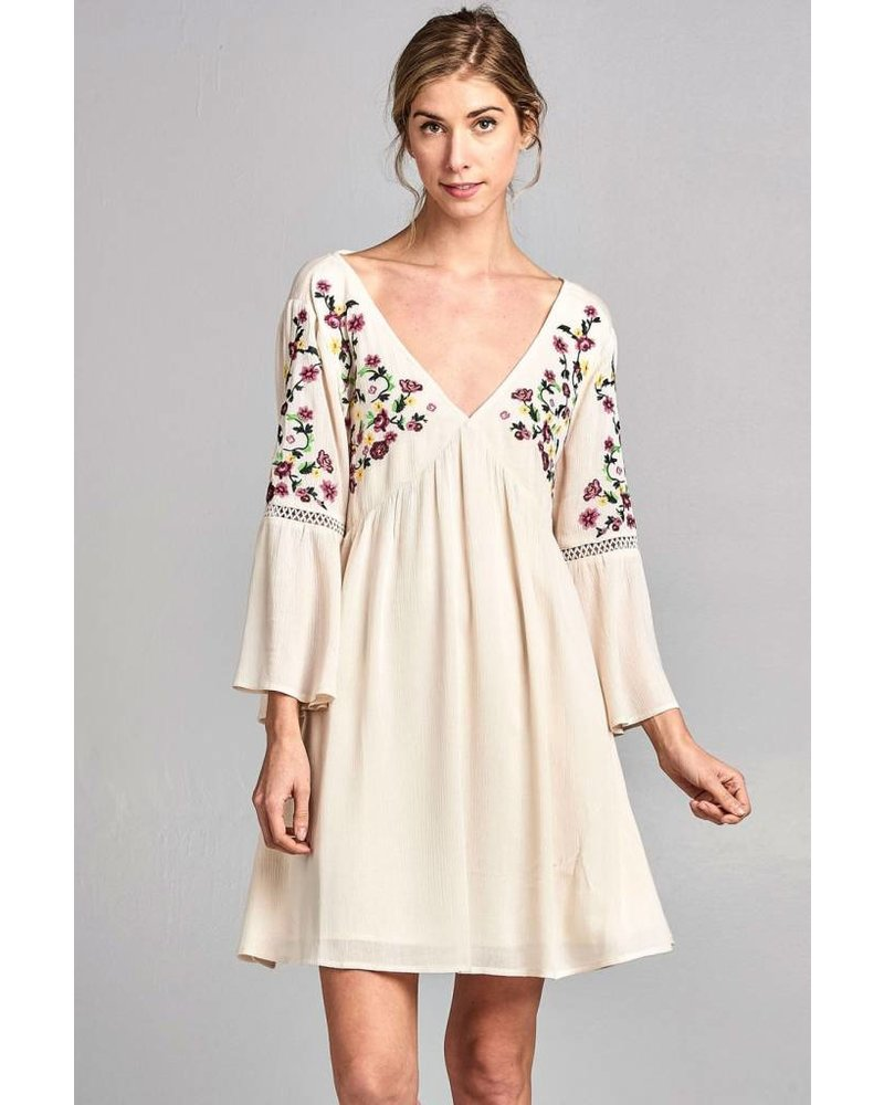 Kendall Embroidered Dress