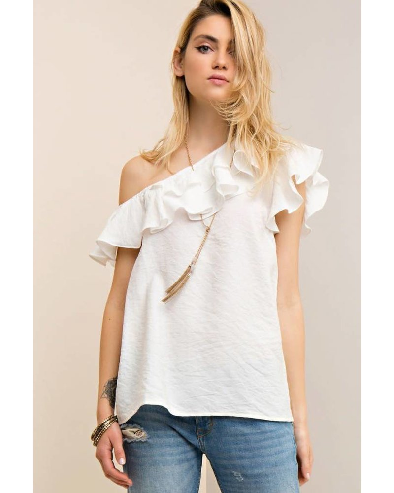 Bardot One Shoulder Top