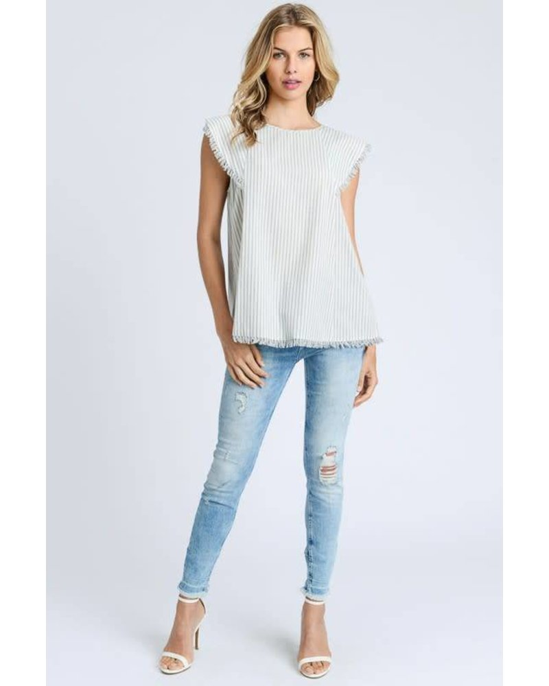 Amelie Fringed Top