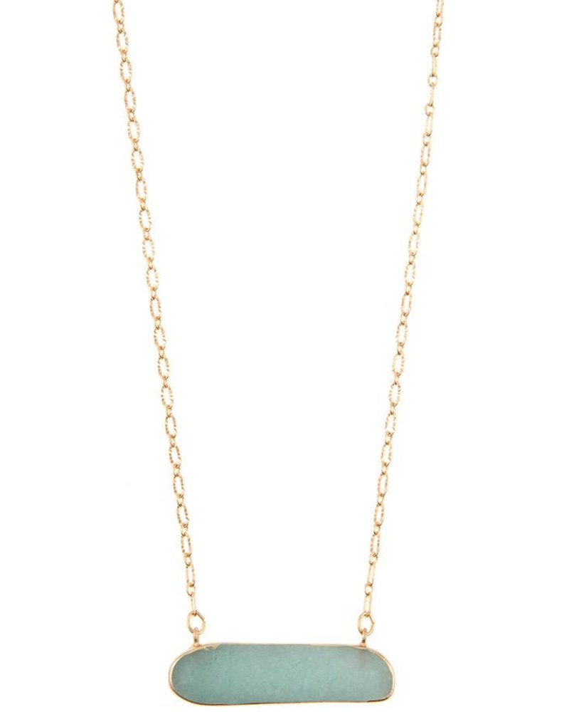 Cleo Stone Pendant Necklace- Amazonite