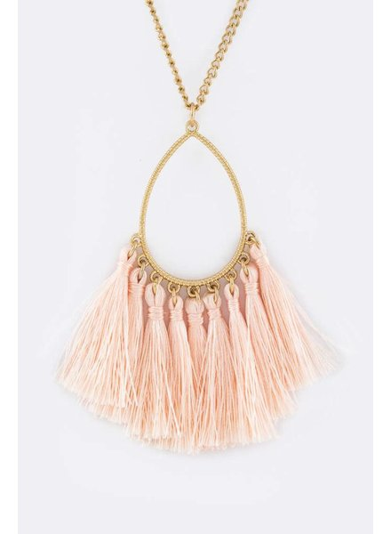 Leigh Necklace- Peach
