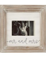 Mr. & Mrs. Distressed Wood Frame