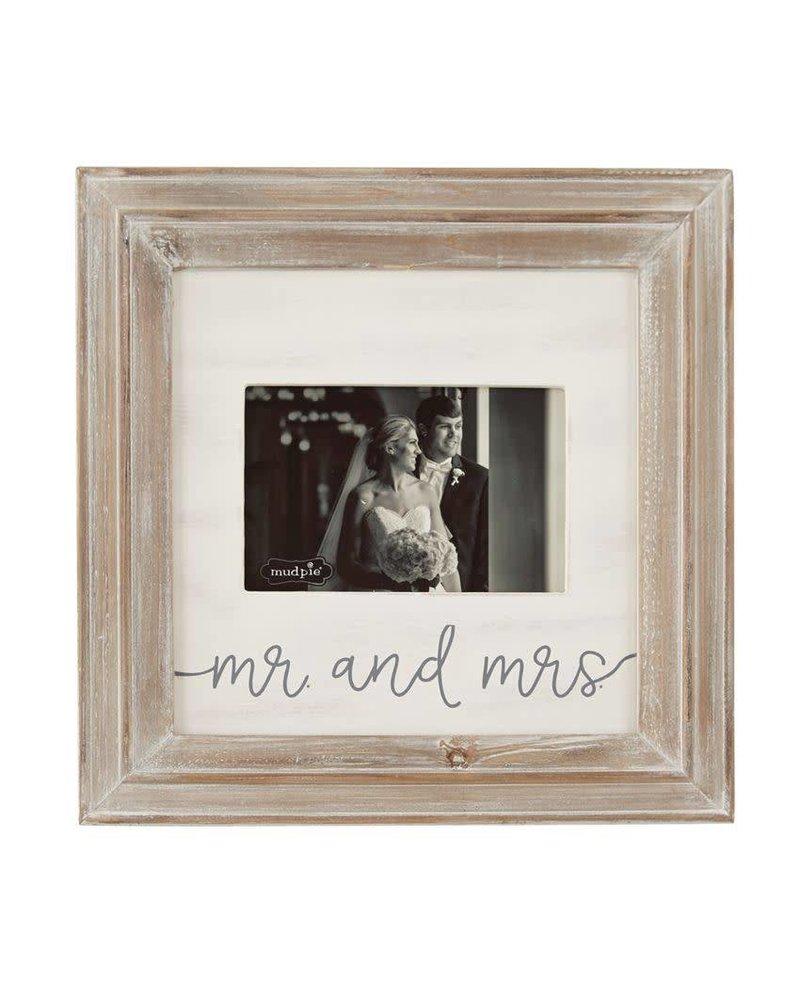 Mr. & Mrs. Distressed Wood Frame