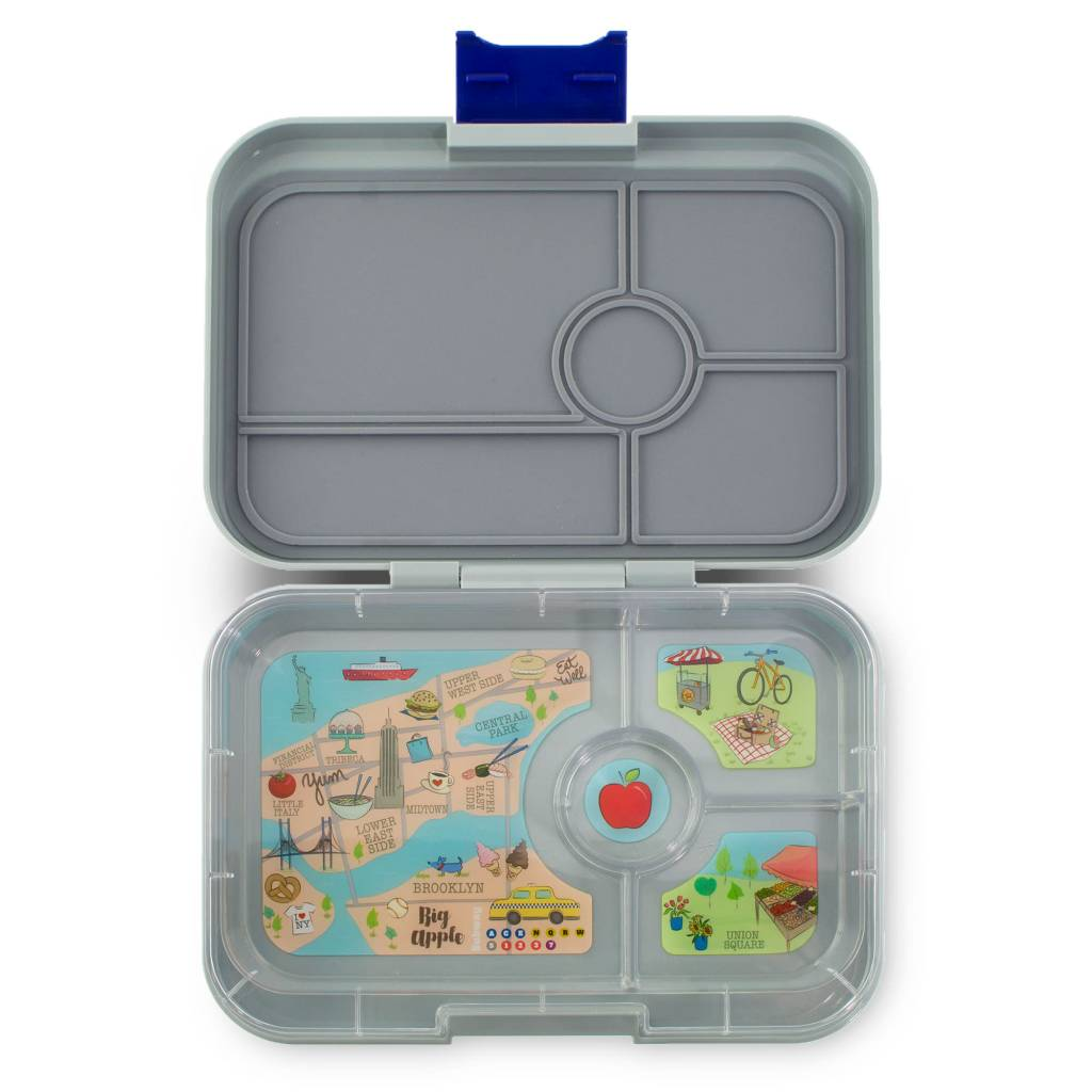 Yumbox Yumbox Tapas 4 Compartment Flat Iron Grey Bento Lunch Box