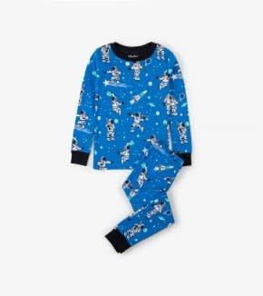Hatley Hatley Long Sleeve PJ Set Athletic Astronauts Glow