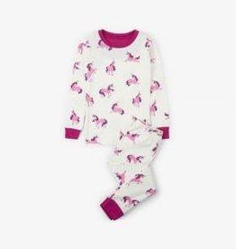 Hatley Hatley Long Sleeve PJ Set Majestic Unicorns