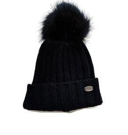 Calikids Calikids Faux Fur Pom Knit Hat