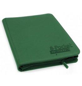 Ultimate Guard 8 Pocket Quadrow Zip Folio Xenoskin Green