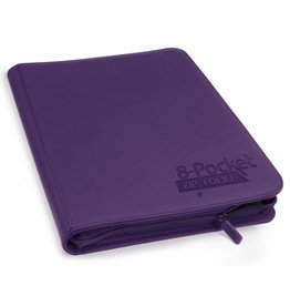 Ultimate Guard 8 Pocket Quadrow Zip Folio Xenoskin Purple