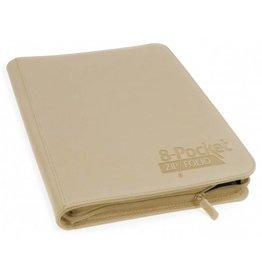 Ultimate Guard 8 Pocket Quadrow Zip Folio Xenoskin Sand