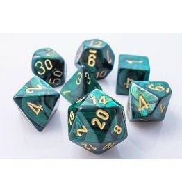 Chessex 27415 Jade/gold Polyhedral 7-Die Set