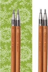 "Chiao Goo SPIN Bamboo Interchangeable Knitting Needle 4"" Tip Set-Small"