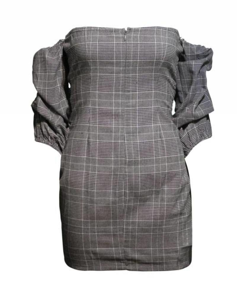 Shop17 Heather Plaid Tie Up Dress