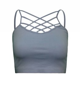 Dynamic Fashion Front Cage Crop Top
