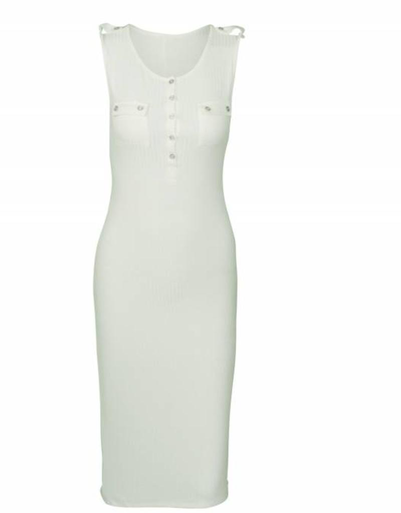 Chroma Tale Henley Sleeveless Ribbed Dress