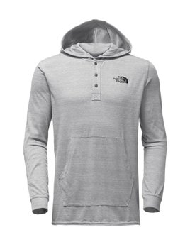 TNF THE NORTH FACE MEN'S HENLEY TRI-BLEND HOODIE