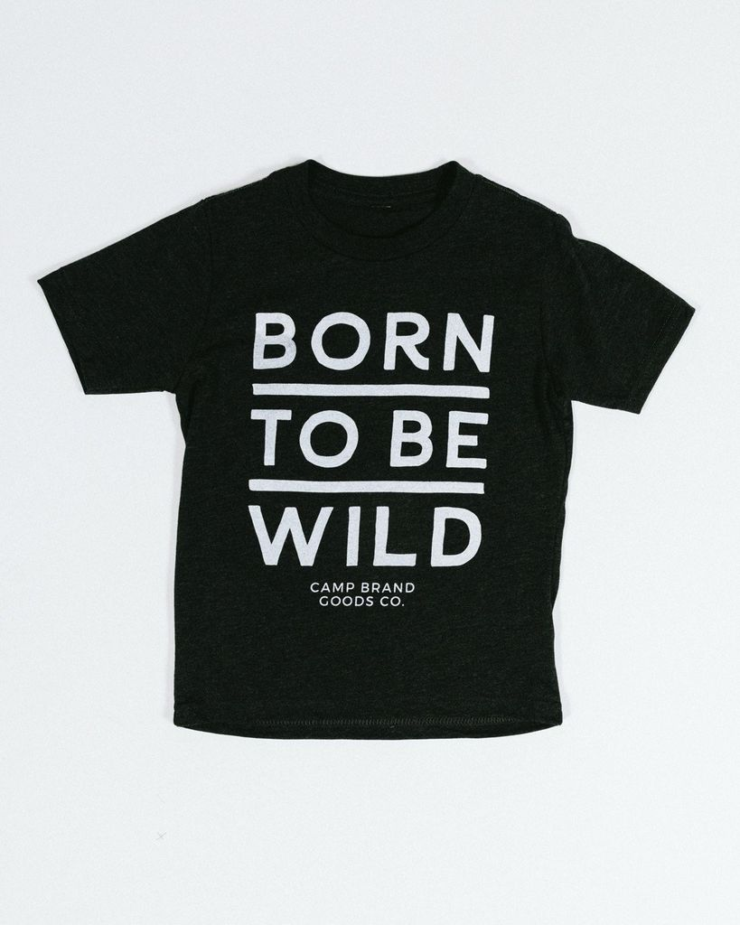 CAMPBRAND GOODS KIDS BORN TO BE WILD T-SHIRT