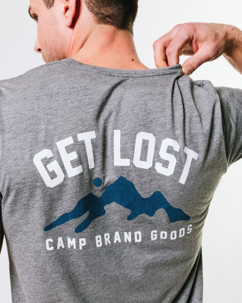 CAMPBRAND GOODS GET LOST IN THE MOUNTAINS T-SHIRT