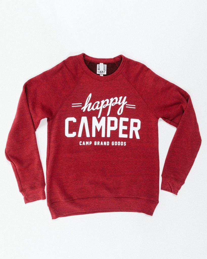 CAMPBRAND GOODS HAPPY CAMPER CREWNECK