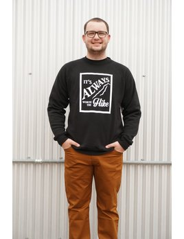 OUTTABOUNDS WORTH THE HIKE RAGLAN CREWNECK SWEATSHIRT