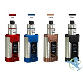 Wismec Wismec Sinuous FJ200 200W TC 4600mAh Starter Kit With Divider 2ML Tank - Blue