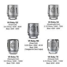 SMOK Smok TFV8 Baby coils V8 Baby T8 core .15Ohm-priced per coil