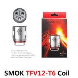 SMOK SMOK TFV12 Tank Replacement Coils - V12 -T6 .17Ohm-priced per coil