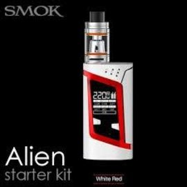 SMOK Smok Alien 220W TC Kit with TFV8 Baby Tank White/Red