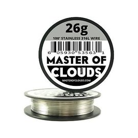 Master of Clouds Master of Clouds SS316L Wire 26g  25'
