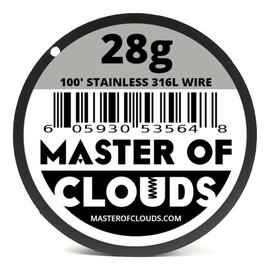 Master of Clouds SS316L Wire 28g  25'