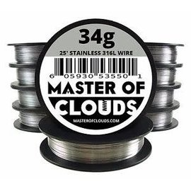 Master of Clouds Master of Clouds SS316L Wire 34g  50'