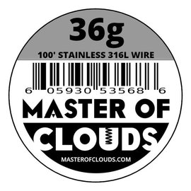 Master of Clouds Master of Clouds SS316L Wire 36g  50'