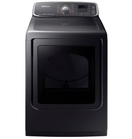 Samsung Samsung 7.4 Steam Gas Dryer Black Stainless