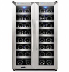 Whynter Whynter 32 Bottle Dual Zone Wine Cooler Stainless