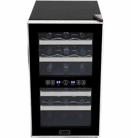 Whynter Whynter 18 Bottle Dual Zone Wine Cooler Black
