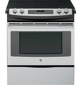 GE GE Slide-In Convection Electric Range Stainless