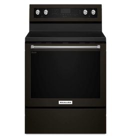 KitchenAid Kitchenaid Freestanding Convection Electric Range Black Stainless