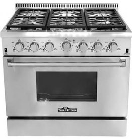 "Thor Thor 36"" Slide-In Convection Gas Range Stainless"