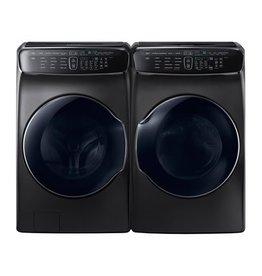 Samsung Samsung 6.0 Steam Front Load FlexWash Washer and Steam Gas Dryer Black Stainless
