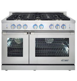 """Dacor Dacor 48"""" Slide-In Convection Gas Range Stainless"""