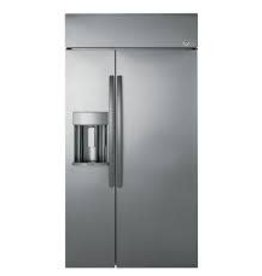 """GE GE Profile 48"""" 28.7 Built-In SxS Refrigerator Stainless"""