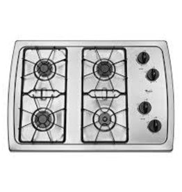 "Whirlpool Whirlpool 30"" Gas Cooktop Stainless"