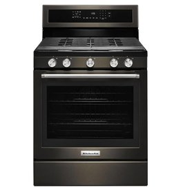 KitchenAid KitchenAid Freestanding Convection Gas Range Black Stainless