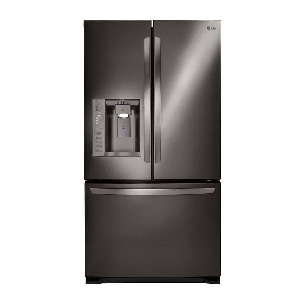 LG LG 24.1 French Door Refrigerator Black Stainless