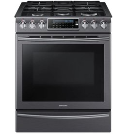 Samsung Samsung Slide-In Convection Gas Range Black Stainless