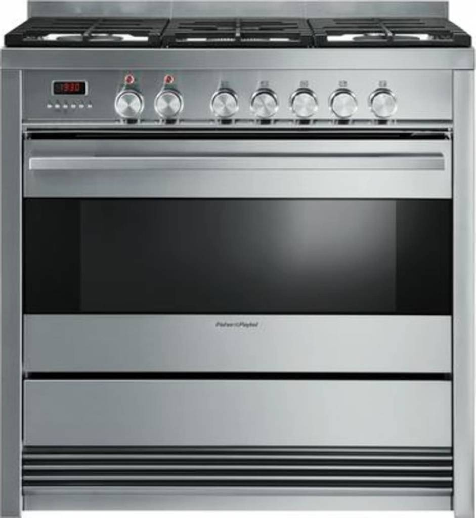 "Fisher & Paykel Fisher & Paykel 36"" Slide-In Convection Gas Range Stainless"