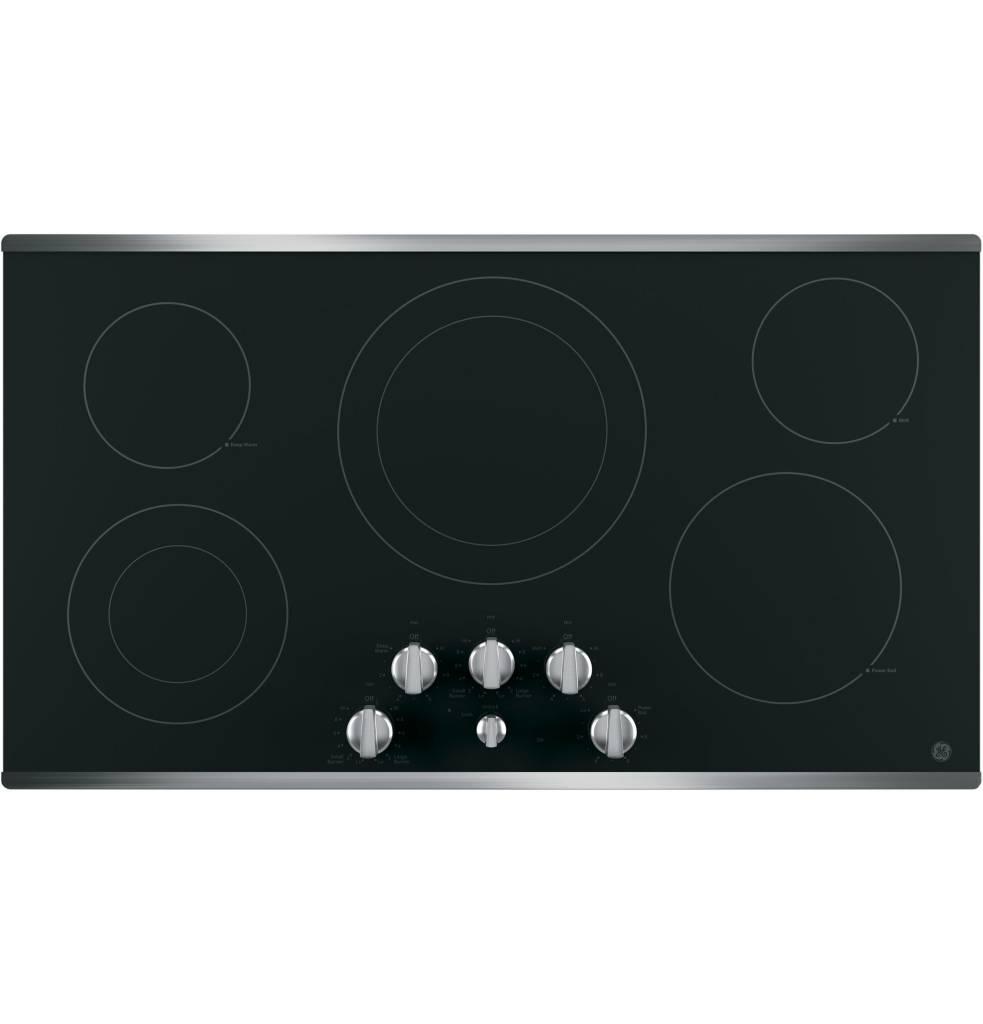 """GE GE 36"""" Electric Cooktop Stainless"""