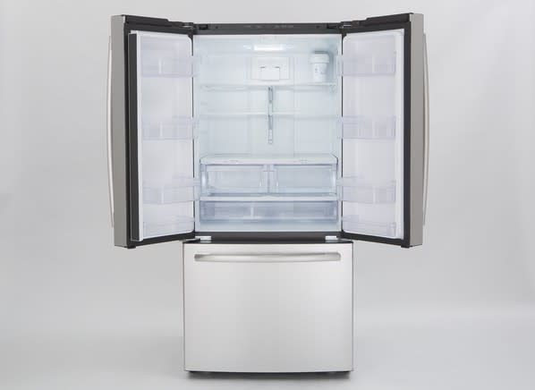 """GE GE 33"""" 24.8 French Door Refrigerator Stainless"""