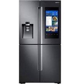 Samsung Samsung 21.5 Counter Depth Family Hub French Door Refrigerator Black Stainless